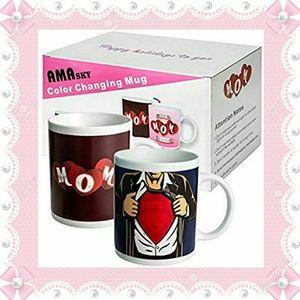 Amasky Color Changing Mugs- Mom & Dad